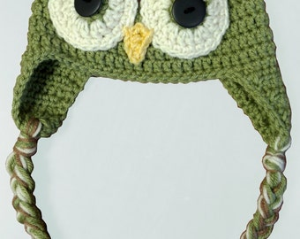 Crochet baby owl hat, Made to Order