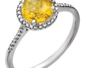 Citrine Birthstone Ring, November Birthstone Ring, Silver Birthstone Ring, Orange Birthstone Ring