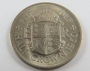 Great Britain 1960 Half Crown Coin.