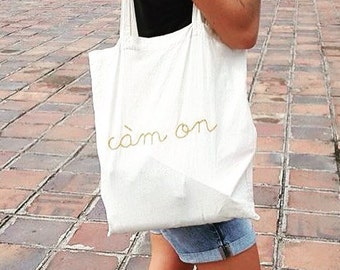 "Tote-bag ""Cam on & xin chao"""