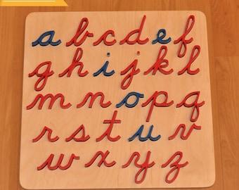 Cursive Alphabet Puzzle