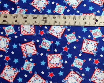 All American Snoopy 2003 100% cotton fabric