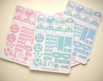 Planner Stickers - Flags - Happy Planner