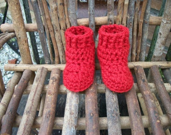 """WALDORF WOOL DOLL Shoes ...to fit 14"""" to 20"""" doll....foot approx. 3   1/4"""" long"""
