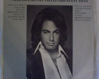 Neil Diamond's 12 Greatest Hits vinyl record