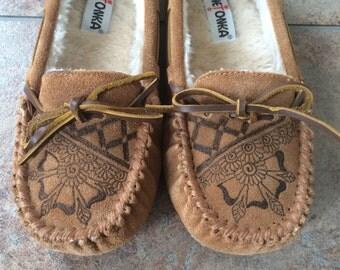 Natalie Design, Minnetonka Moccasin Slippers