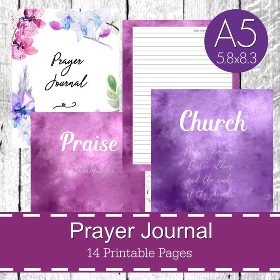 Prayer journal christian planner daily devotional bible