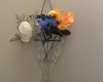 Upcycled Fused Glass Pocket Wall Vase