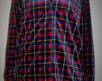 Retro Velour Printed Jacket