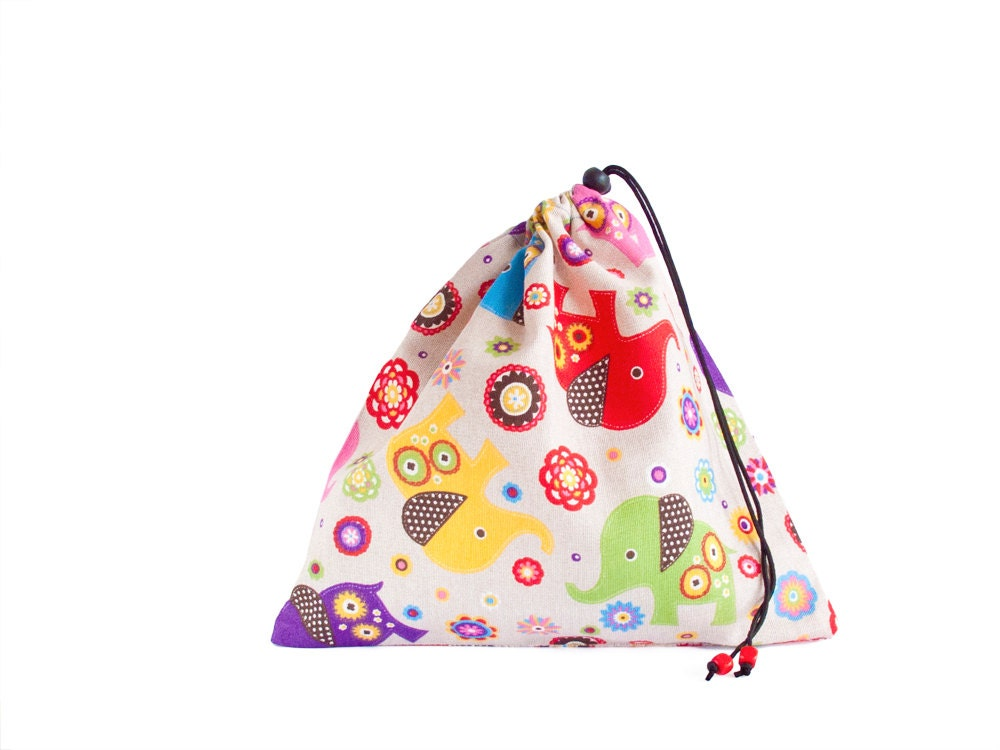 Gift Bag Toys : Drawstring pouch fabric gift bags bag toy