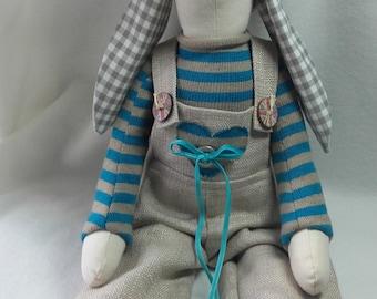 Handmade doll 50cm,rabbit, fabric bunny, toy bunny, hare,textile doll