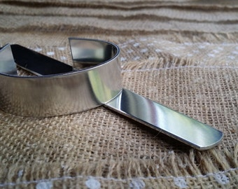 5 Polished 3/4' x 6' 14g 1100 Food Safe Aluminum Bracelet Cuff Blanks - FLAT
