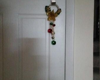 Gold n'Glitter Doorknob Hanger, Christmas Hanger, Doorknob Hanger, Jingler