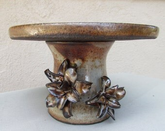 Cake Stand, Cake Plate, Tiered Serving Plate, Hors d'oeuvres Stand, Hostess Serve Ware, Handmade Pottery, Party Serving Ware