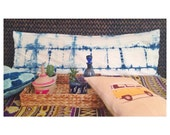 Indigo Body Pillow Cover Shibori Bohemian Bedding Indigo