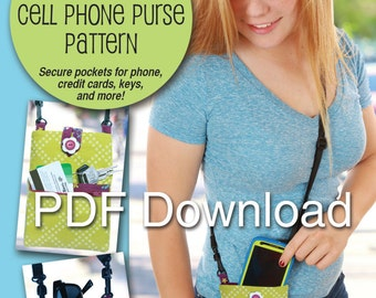 PDF Crossbody Cell Phone Purse Sewing Pattern
