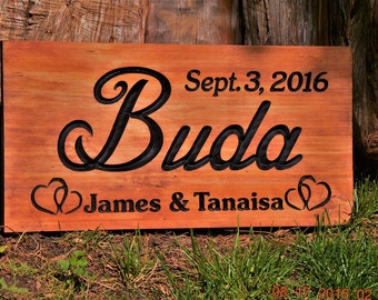 Last Name Sign Outdoor Sign Family Name Sign Personalized Family Name Last Name Couples Gift Sign Personalized Wood Name Outdoor Sign