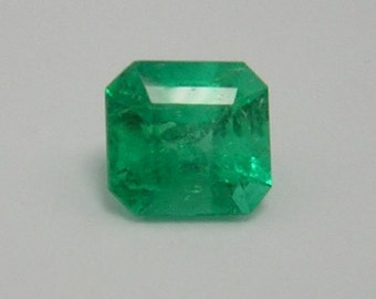 1.06 Ct Natural Colombian  Square Loose Emerald