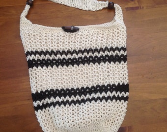 Cream crochet Bag