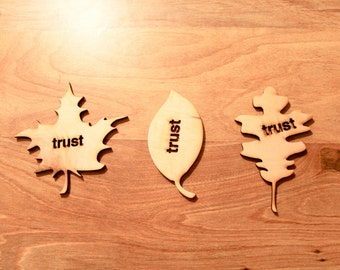 Trust Fall Wooden Coasters