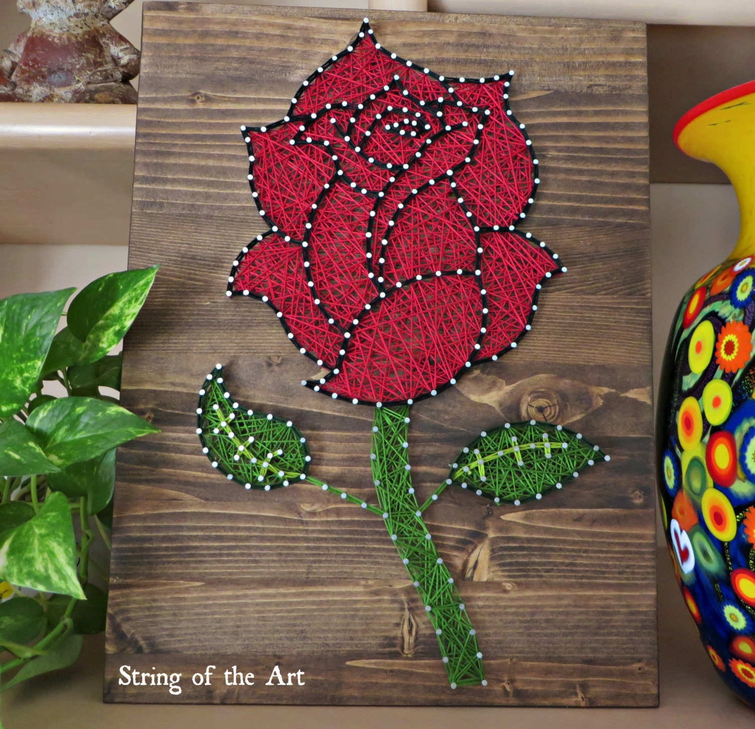 diy string art kit rose rose string art rose by stringoftheart. Black Bedroom Furniture Sets. Home Design Ideas