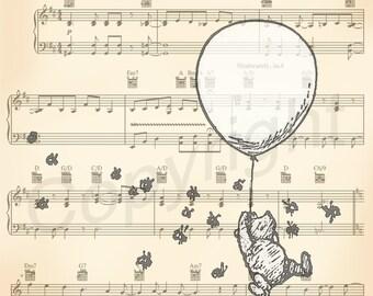 Winnie the Pooh Original Artwork Sheet Music Print Set