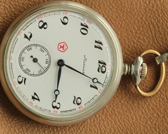 Soviet watch.3602.Open Face.Vintage watch.Mechanical watch.Pocket Watch.Collectible.