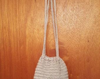 Crocheted Drawstring Purse