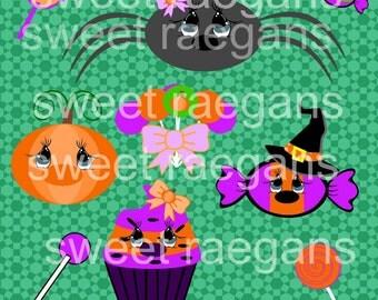 Halloween critters svg, Instant Download, Digital, Clipart, Clip art