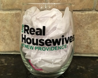 The Real Housewives Stemless Wine Glass