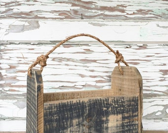 Wooden Tote with Knotted Rope Handle