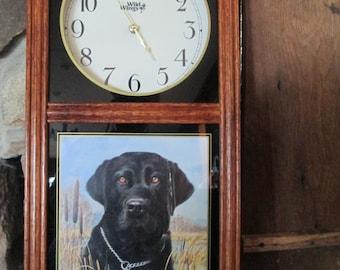 WILD WINGS LAB (Black) Clock