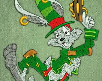 Rabbit bandolero embroidery design