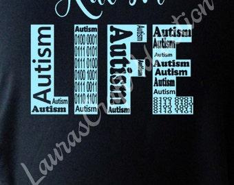 Autism Life, Cut file, Autism Life svg, Autism Awareness, Awareness svg, Autism Mom, Autism Dad, Silhouette, Cricut, Autism svg, Studio V3