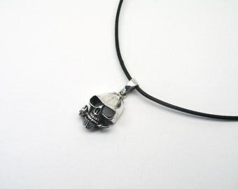 Skull pendant rose skull Sterling Silver 925