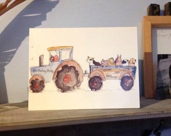 Birthday Boy Tractor