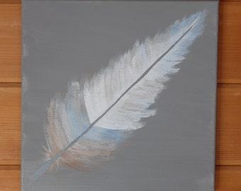 Single Feather 12x12