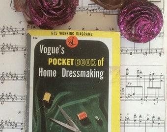 1944 vintage rare Vougue retro Sewing Pocket Book of Home Dressmaking.
