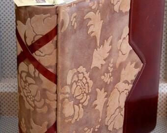 Luxury Italian leather photo album with suitcase