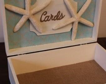 Beach Themed Wedding Card Box! Wedding keepsake, Bridal Shower, ocean themed wedding, wedding decor, memory box