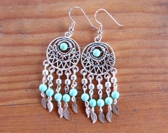 Handmade Silver Dream Catcher Earrings