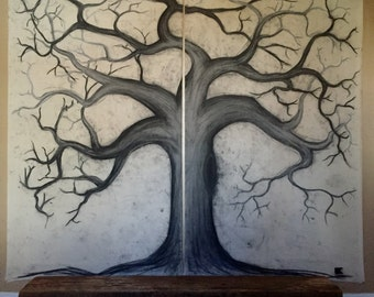Charcoal Tree on Canvas