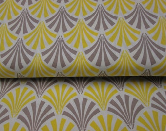 fabrics cotton pattern big gray and yellow chevron