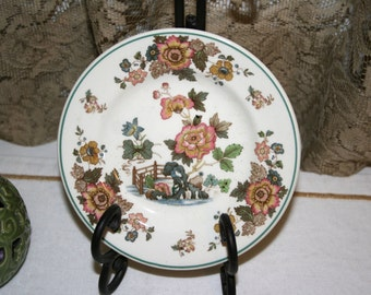 Wedgwood Eastern Flowers//Bread and Butter Plate//Made in England//Vintage Wedgwood China