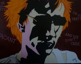 Pretty Vacant , Johnny Rotten - Giclee Fine Art Print