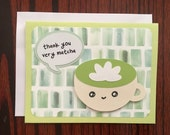 thank you very matcha - handmade punny card