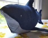 Large Denim Shark