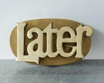 Brass Later! Memo Clip, Vintage Giftware for Notes, Mail