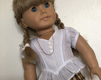 Frilly blouse fits American girl dolls