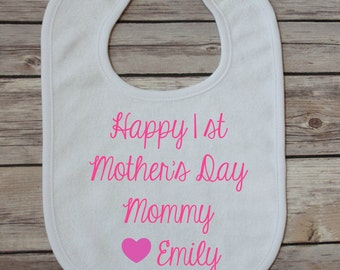 mother's day - mother's day bib - new baby gift - new mother's gift - 1st mother's day gift - unique baby gift - baby shower gift - baby bib